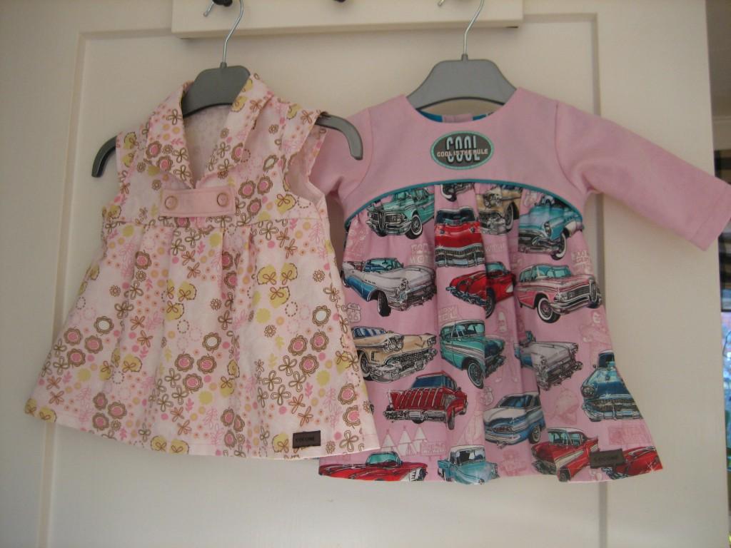 Leonore kjole lyserød og Cool kjole 2